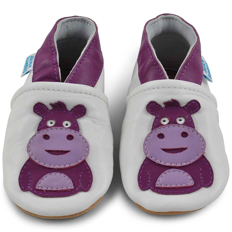 Amazon.com: Suela suave de piel para bebé, zapatos para bebé ...
