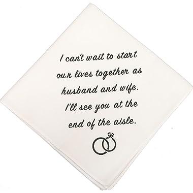 Groom Wedding Handkerchief by Wedding Tokens- Groom Gift