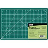 """US Art Supply 12"""" x 18"""" GREEN/BLACK Professional Self Healing 5-Ply Double Sided Durable Non-Slip PVC Cutting Mat Great…"""