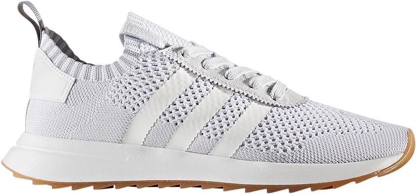 adidas Primeknit Flashback FLB. Blancas y Verdes. Zapatillas deportivas Running para Mujer (36.5 EU, White/Clear Grey): Amazon.es: Zapatos y complementos