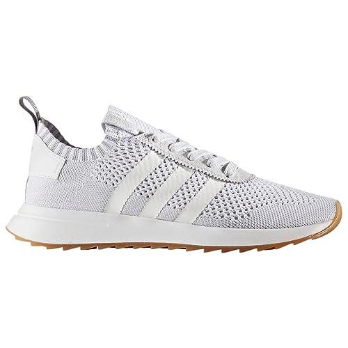adidas Primeknit Flashback FLB. Blancas y Verdes. Zapatillas deportivas Running para Mujer (36.5