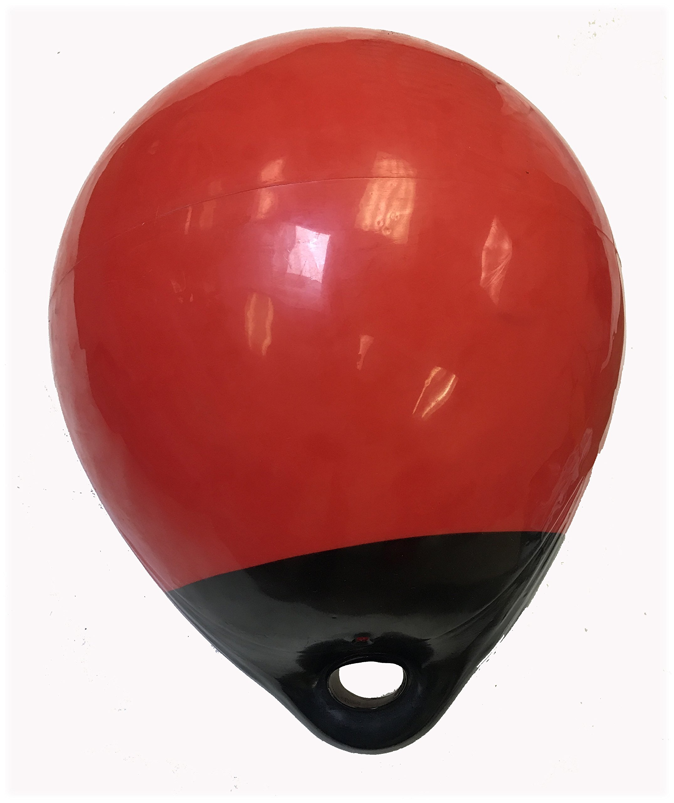 KUFA A38 Red/Black 15'' Diameter (Inflated Size: 15'' x 20'') Mark Buoy Mooring Buoy Anchor Lift Buoy