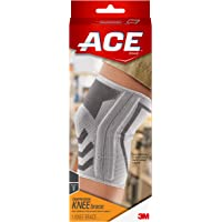 ACE Compression Knee Brace with Side Stabilizer, Helps support weak, injured, arthritic or sore knee, Money Back Guarantee, Small