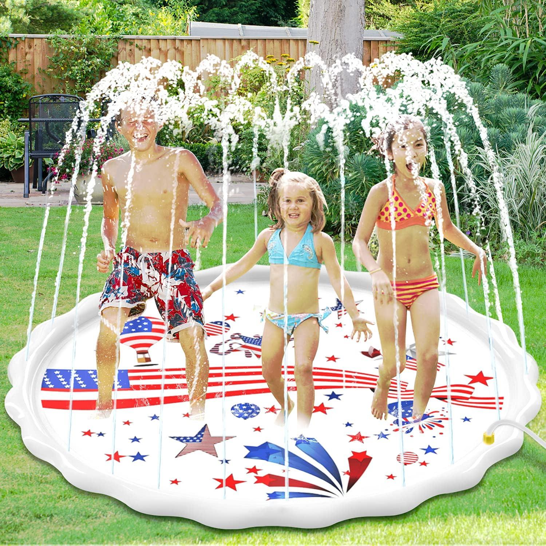 55% Off Coupon – 67″ Kids Splash Pad for Backyard Fun