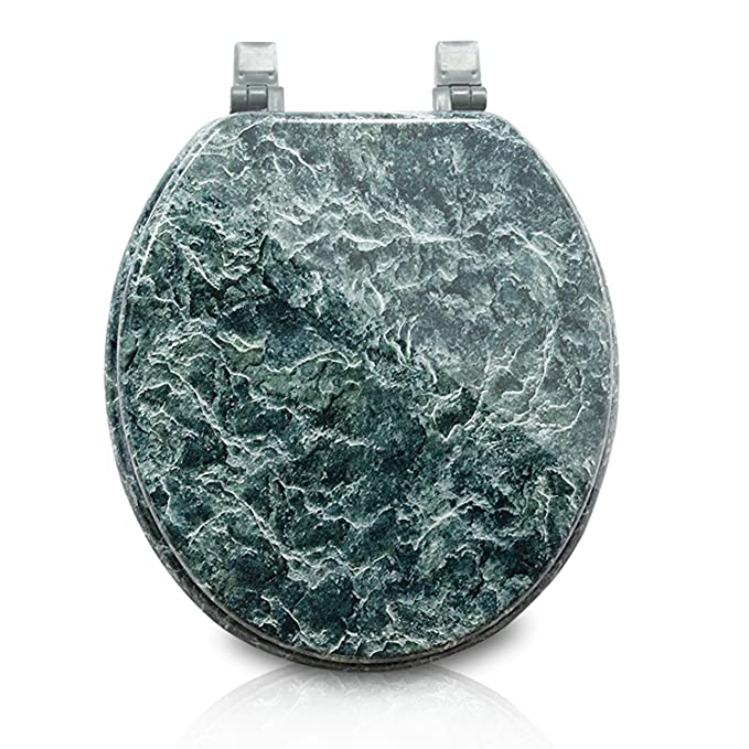 Super Trimmer Marblized Molded Wood Toilet Seats Faux Marble Painting In Green Marble Wood Composite With Water And Stain Resistant Finish Caraccident5 Cool Chair Designs And Ideas Caraccident5Info