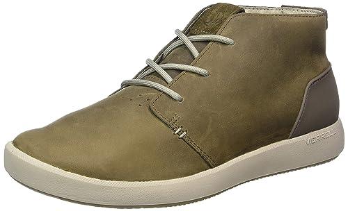 Merrell J91329, Botas Chukka Hombre, Marrón (Cloudy), 46.5 EU: Amazon.es: Zapatos y complementos