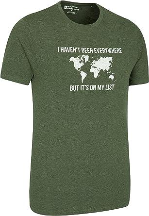 Mountain Warehouse Grid Map Te de Mens del Mapa de la Rejilla - Camiseta Ligera del Verano, Breathable, Camisa de la te de la impresión de la Calidad, Cuidado fácil Caqui XXX-Large: