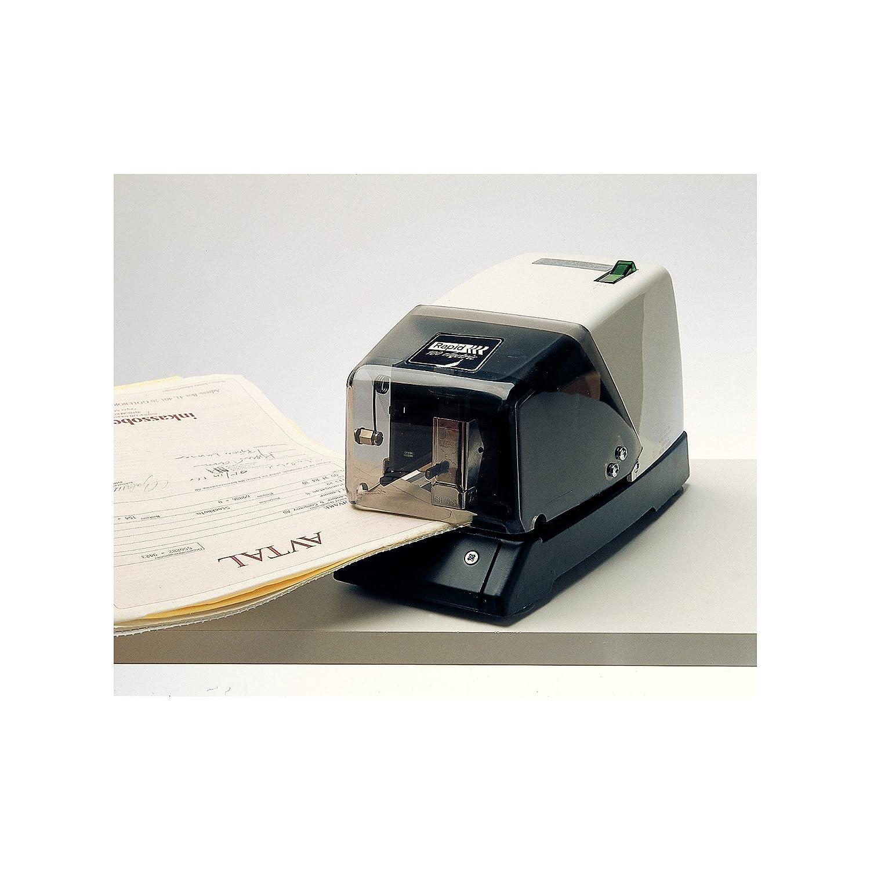 Utilisation Professionnelle M/étal 50 feuilles Rapid Agrafeuse /Électrique 100E 10801932 Blanc//Noir