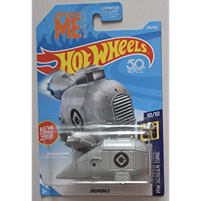 Hot Wheels 1:64 Scale Screen time 10/10, Silver Grumobile 296/365 50th Anniversary Card: Toys & Games