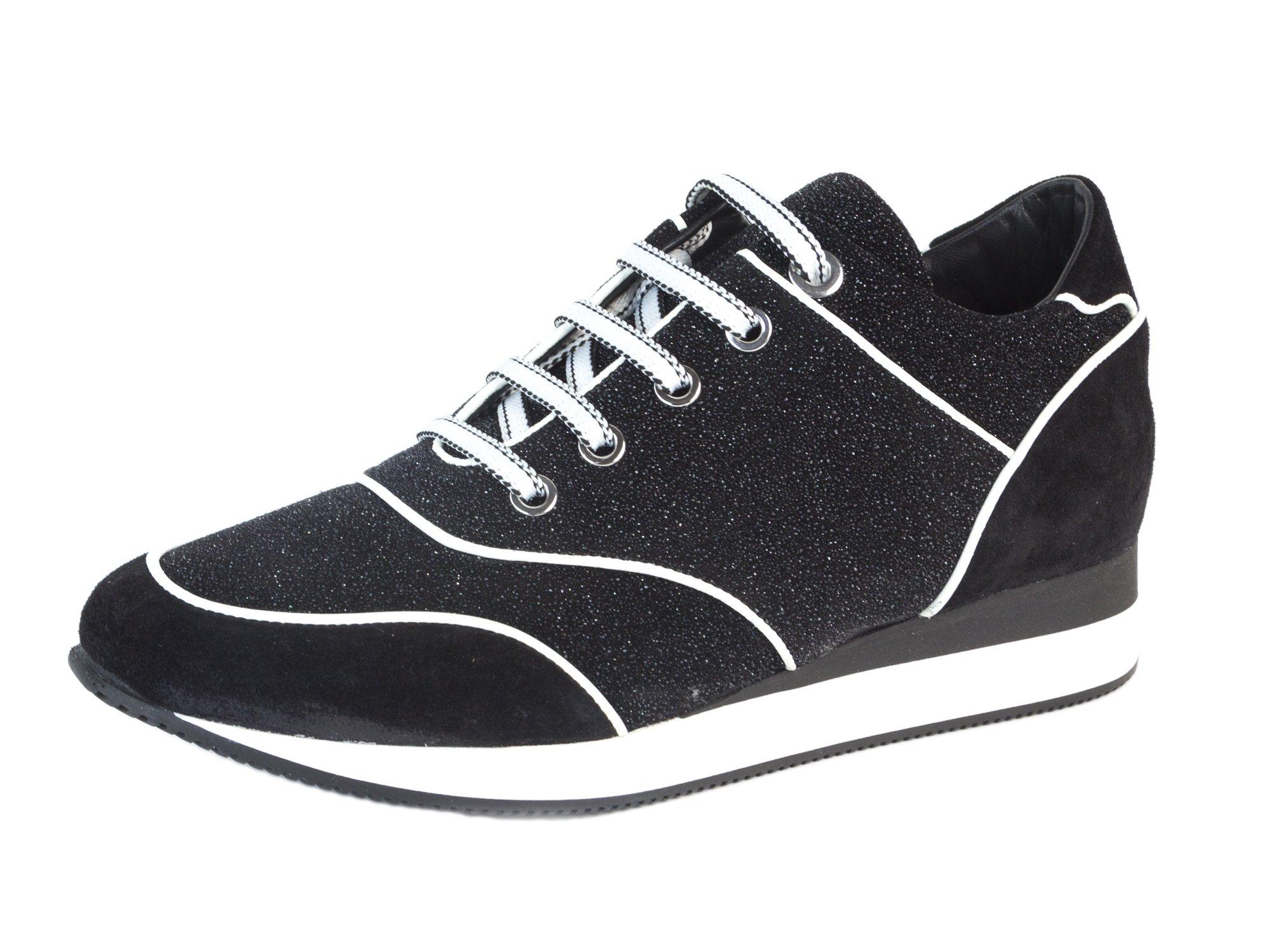 MaxMara Women's MM32 Embellished Leather Sneakers US 7/IT 37 Black