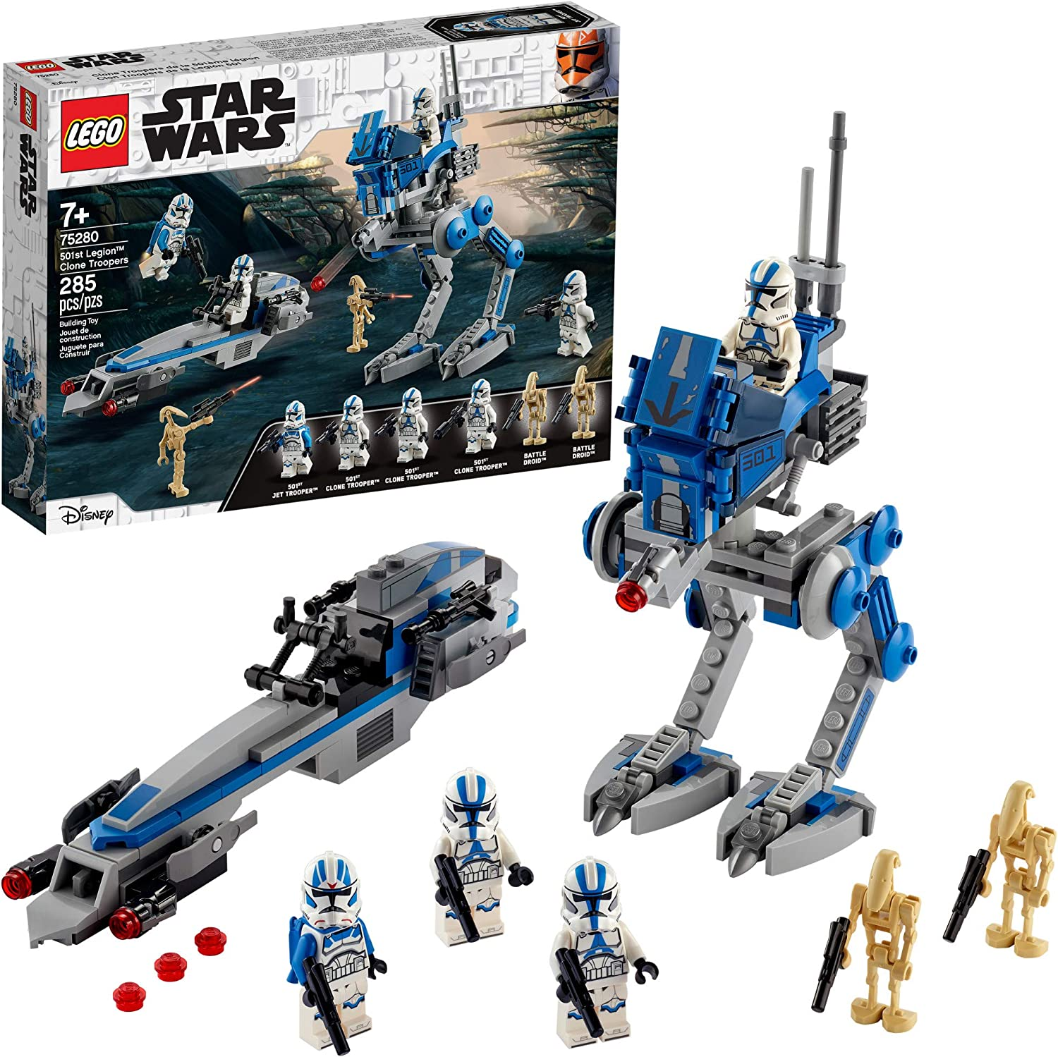 Amazon Com Lego Star Wars 501st Legion Clone Troopers 75280 Building Kit Cool Action Set For Creative Play And Awesome Building Great Gift Or Special Surprise For Kids New 2020 285 Pieces Toys