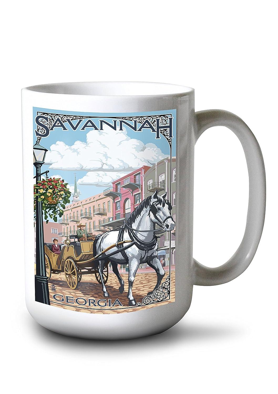 大特価!! サバンナ、ジョージア – Horse Coffee and Carriage 15oz Horse 8oz Mug LANT-3P-15OZ-WHT-36909 B074RZSKF1 8oz Coffee Bag 8oz Coffee Bag, ステーショナリーショップたまぶん:c5634885 --- podolsk.rev-pro.ru