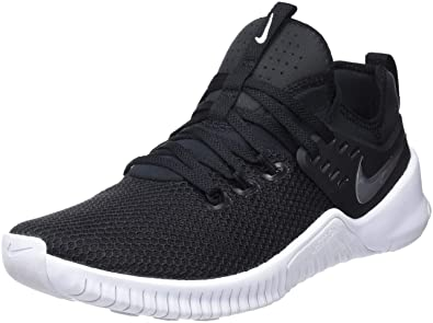12ae5b86af21 Nike Men s Metcon Free Training Shoe Black White 7.0