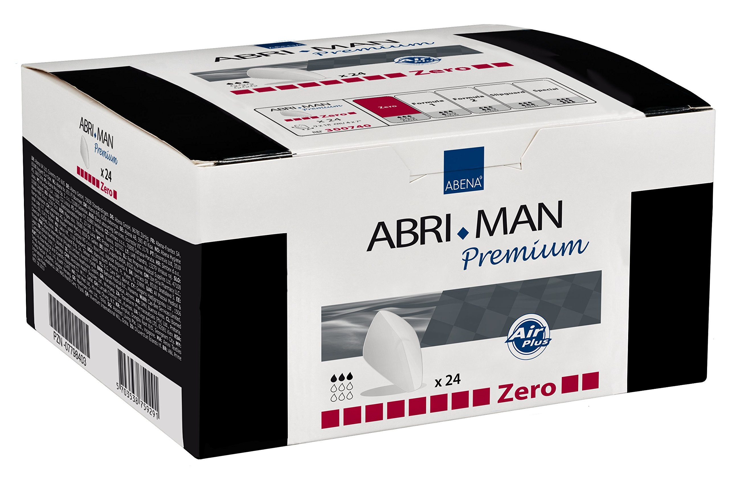 Abena Abri-Man Male Pouch Incontinence Guards Zero, 384 Count (18 Packs of 24)