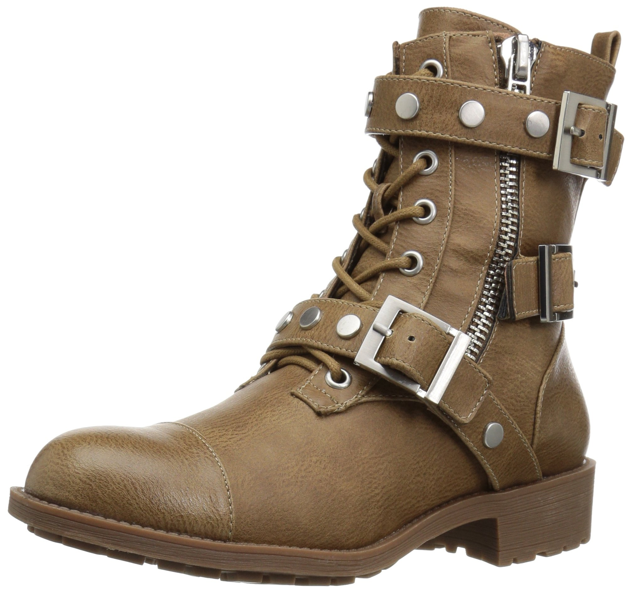 Style by Charles David Women's Caden Motorcycle Boot, Taupe, 8 Medium US