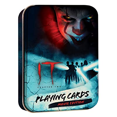 USAOPOLY IT Chapter Two Playing Card Set | Collectible Deck of Cards Featuring Stephen King's IT Character - Pennywise | Official IT Merchandise | Collectible Tin Container: Sports & Outdoors