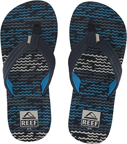 Surf Flag Youth Kids Flip Flops 4//5 Reef Ahi Sandal