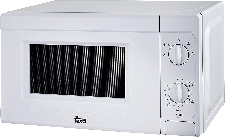 Teka MW206 - Microondas sin grill, 700W, 20 litros, color blanco ...