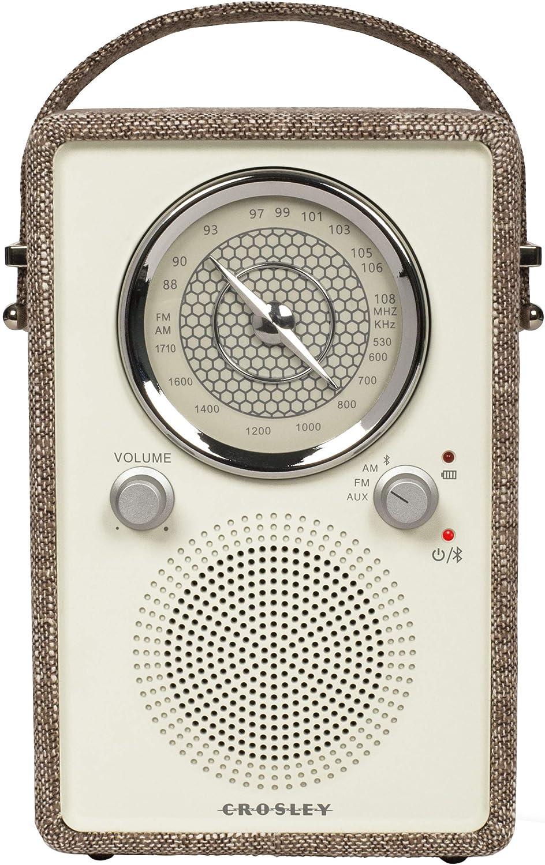 Crosley CR3034A-TN Mockingbird Vintage Portable AM/FM/Bluetooth Radio, Tourmaline Deer Park Distributors