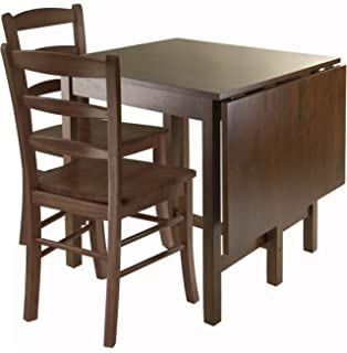 Amazoncom Winsome Hannah Dining Set Drop Leaf Table with 2