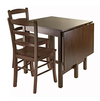 winsome piece dining table ladder back chairs painted with rush seats and stairs