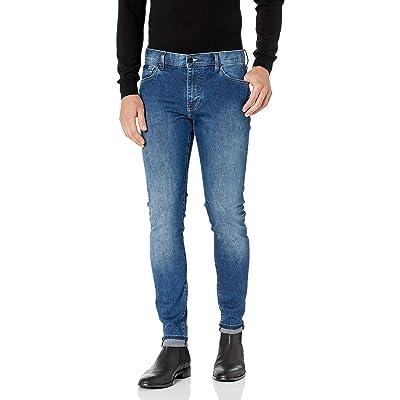 A|X Armani Exchange Men's 5 Pocket Indigo Stretch Cotton Denim Super Skinny Pant: Clothing