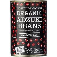Honest to Goodness Organic Adzuki Beans - BPA Free (Cooked), 1 x 400 g