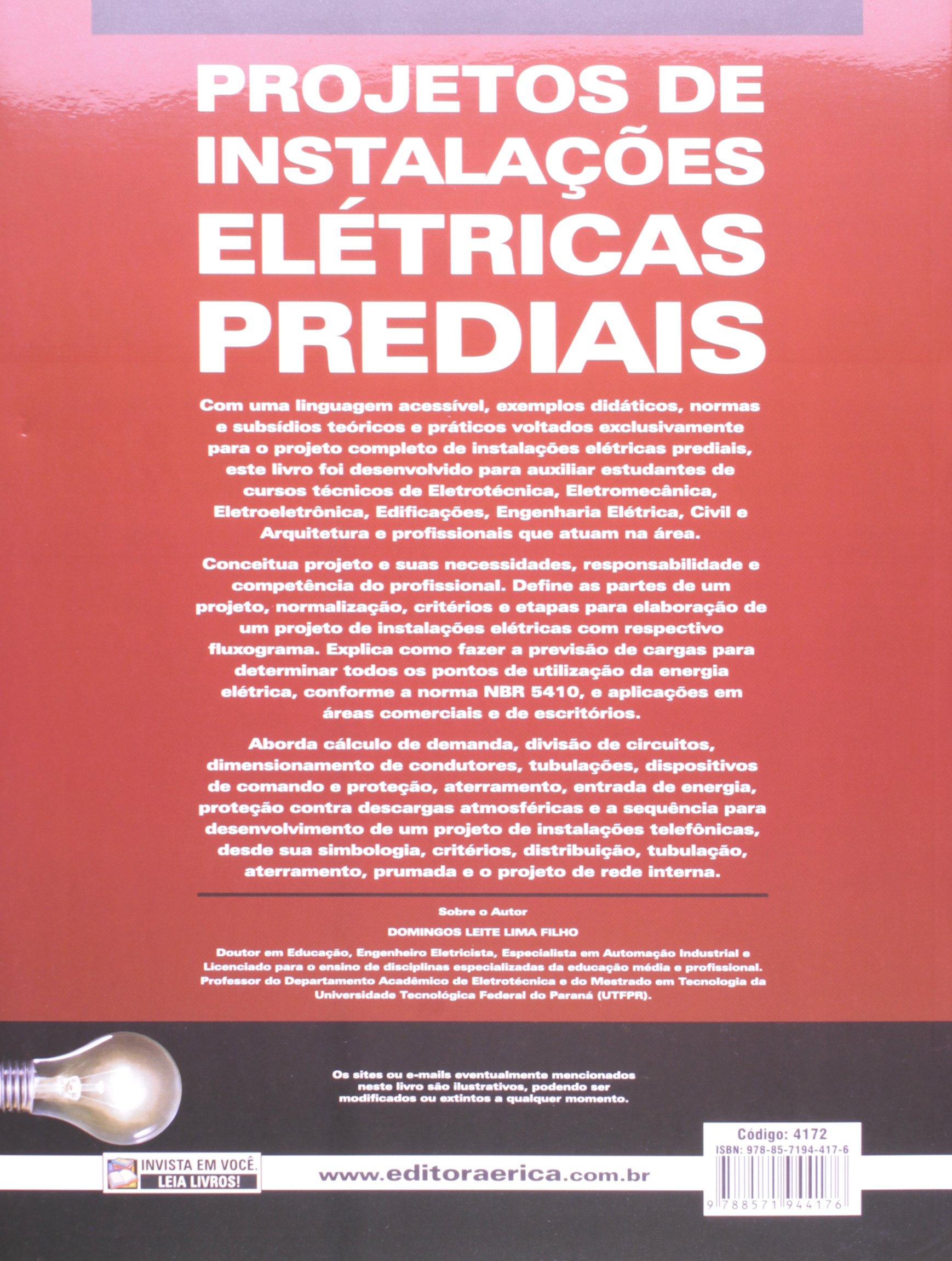 Projetos De Instala Es El Tricas Prediais 9788571944176 Livros