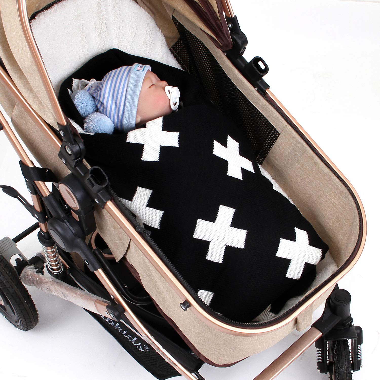 Amazon.com: MiMiXiong - Manta para bebé de doble capa, suave ...