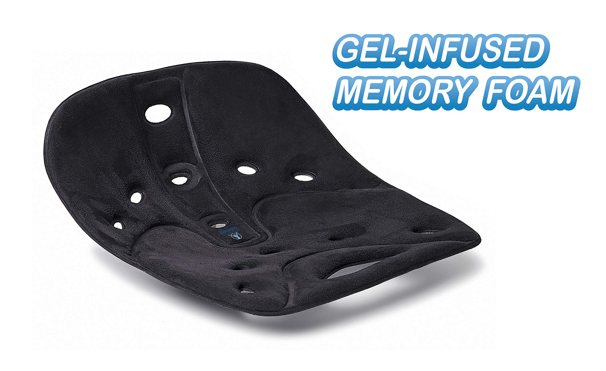 BackJoy Pro Gel Memory Foam Seat Cushion for Back Pain and Tailbone Relief by BackJoy