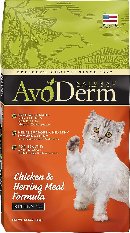 Avoderm Natural Chicken & Herring Meal Formula Dry Kitten Food
