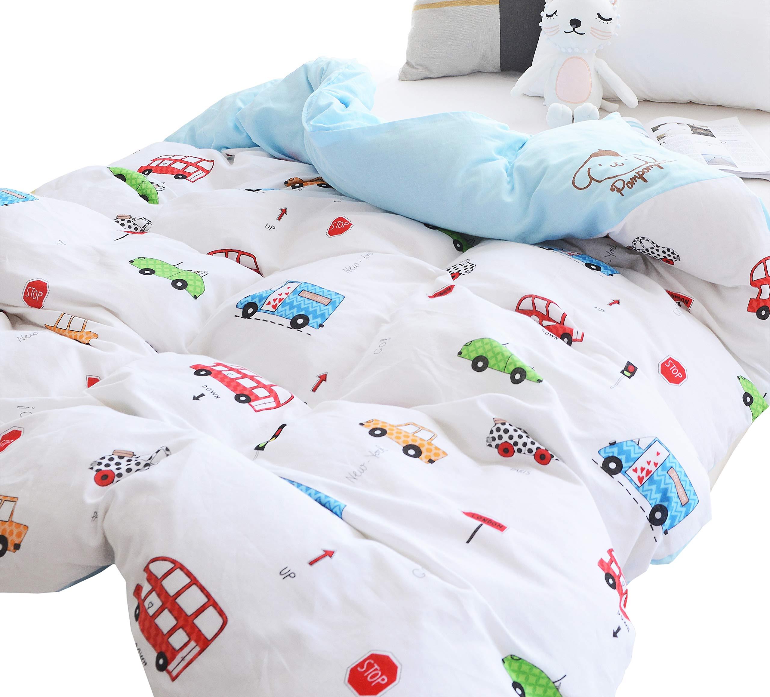 Amazon Com Tadpoles Toddler Comforter Box Pattern White