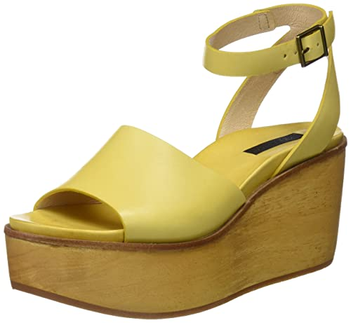 S507, Sandales Plateforme Femme, Jaune (Ceylon Yellow), 38 EUNeosens