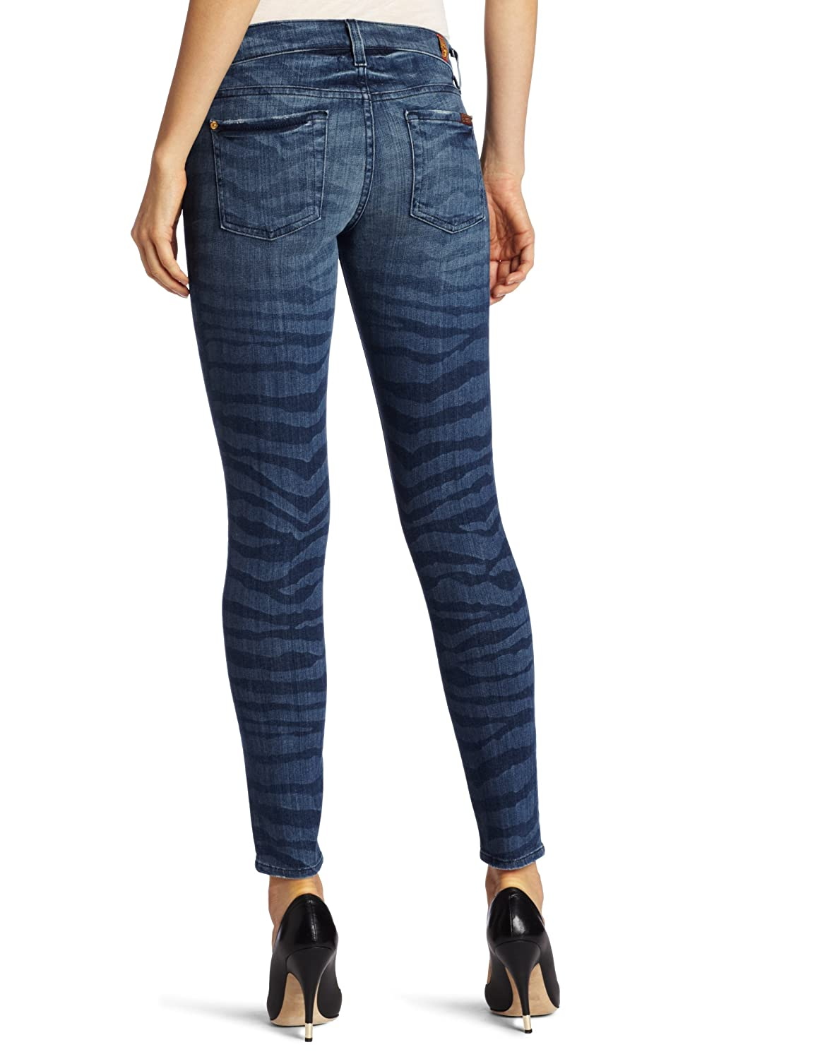 7 For All Mankind Womens Skinny Dark Wash Jean Ankle Pant