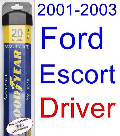 2001 – 2003 Ford Escort ZX2 hoja de limpiaparabrisas de repuesto Set/Kit (Goodyear