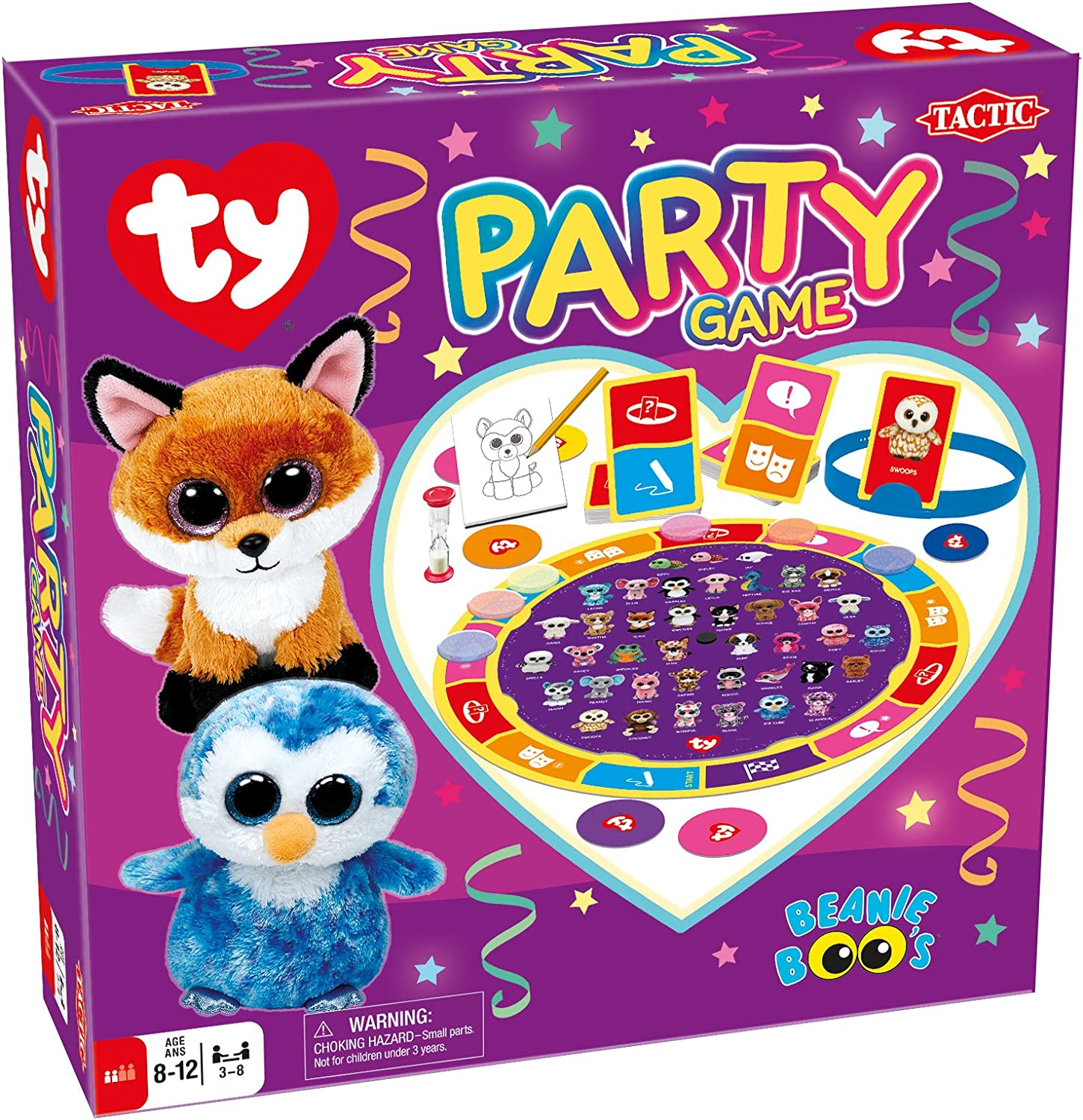 Amazon.com: Tactic Games US Ty Party Board Game: Toys & Games