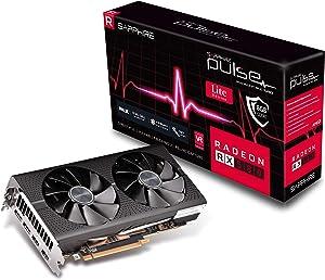 Sapphire Technology 11265-67-20G Radeon Pulse RX 580 8GB GDDR5 Dual HDMI / Dual DP OC w/ Backplate (UEFI) PCI-E Graphics Card