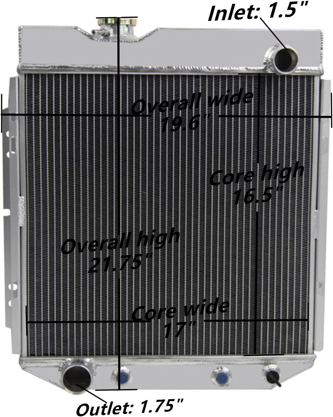 Champion 3 Row Core All Alum Radiator AS For 1961 62 63 64 65 66 GM C//K Truck