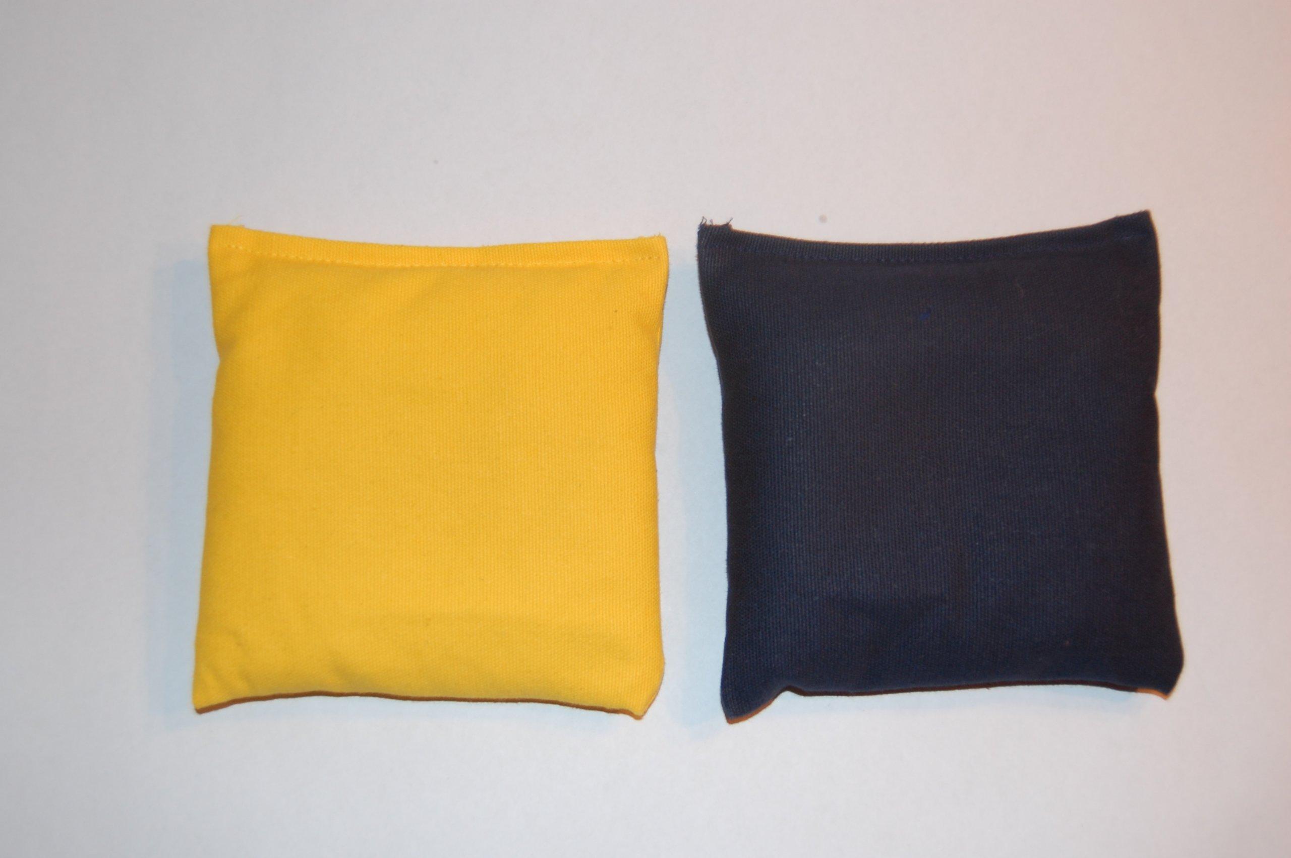 Weather Resistant Cornhole Bags (Set of 8) by SC Cornhole (Black/Yellow)
