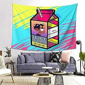 AFOK Juice-Wrld Hip Hop Rapper Tapestry Soft Wall Hanging Tapestries,for Living Room Bedroom Home Decor 60x40in