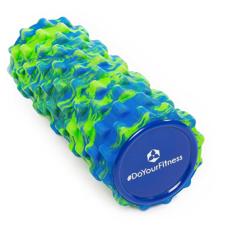 Rodillo para masaje miofascial, rodillo de espuma »Ishana« Graffiti New Style / Rodillo para masajes y terapias que facilita un automasaje efectivo / azul y verde #DoYourSports