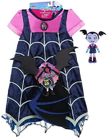 Amazon.com: Disney Junior Vampirina Vestido Plus Vampirina ...