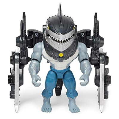 BATMAN, 4-Inch King Shark Mega Gear Deluxe Action Figure with Transforming Armor: Toys & Games