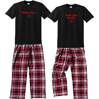 Love You & Love You More Couples Matching Fun Pajamas