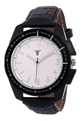 54c0dcfef659 Traktime Men s Women s Marine Complete White Checked Round Dial Analogue Wrist  Watch for Men