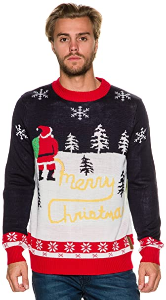 Tipsy Elves Ugly Christmas Sweater , Men\u0027s Yellow Snow Sweater
