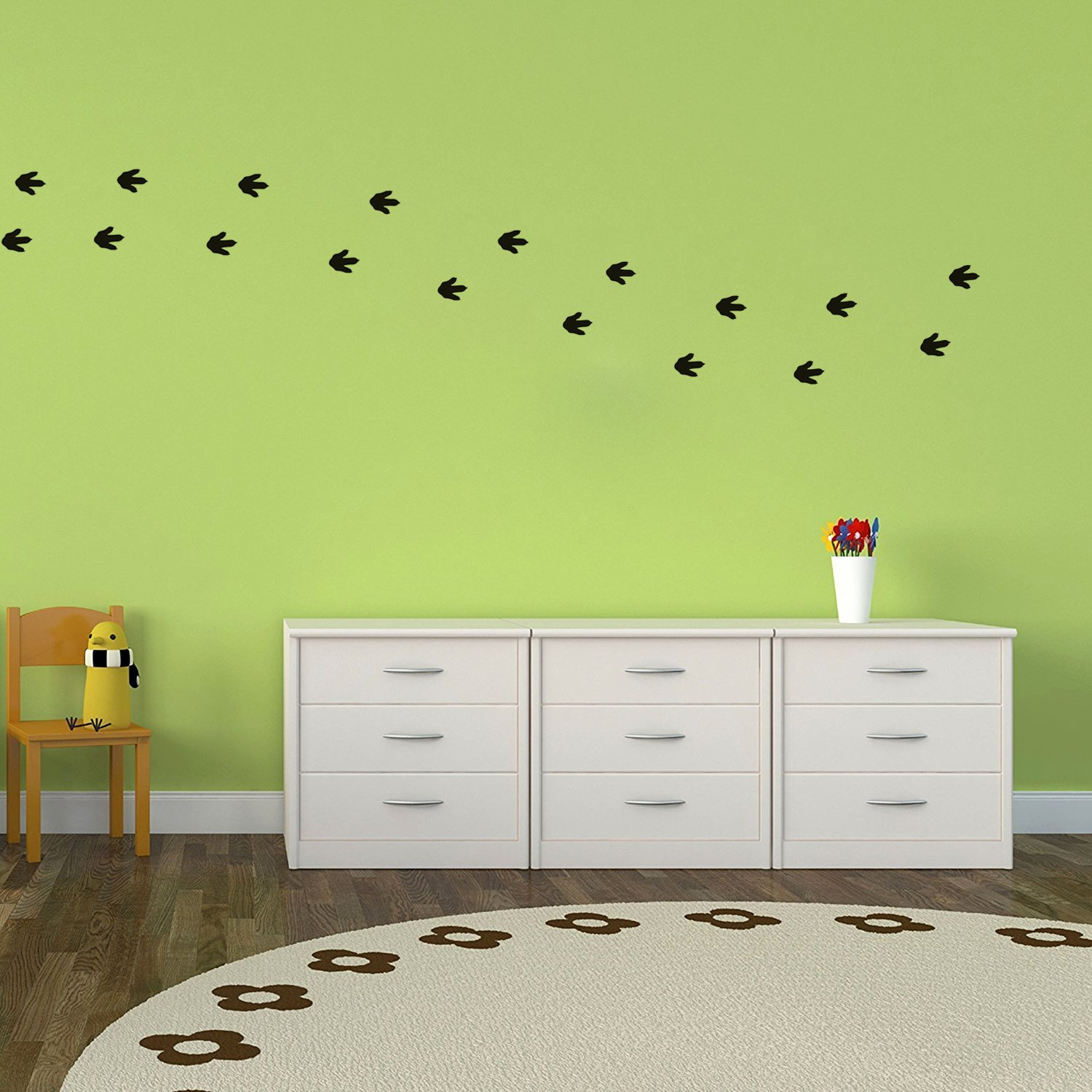 DIY Cat Dogs Footprint Wall Sticker for Kids Room Decoration Pet Paw Wall Decal 40pcs Paw Decals Animal Theme Party Sticker