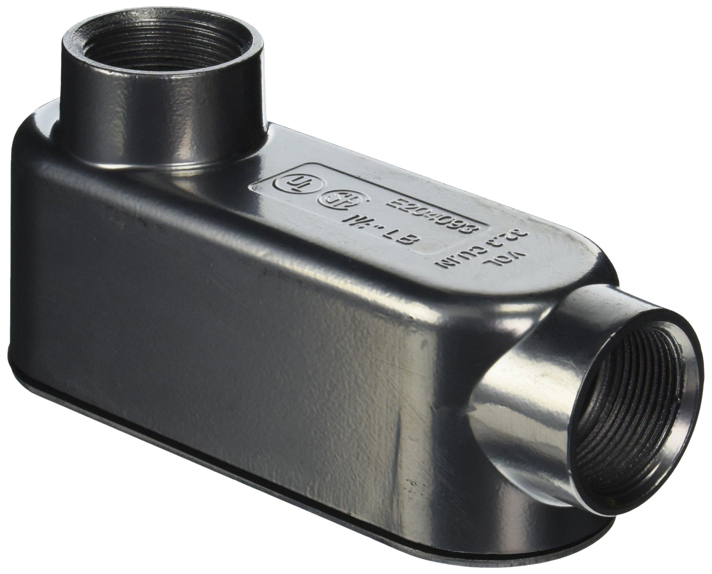 Halex 58612 1-1/4-Inch RGD Threaded Conduit Bodies Type LB