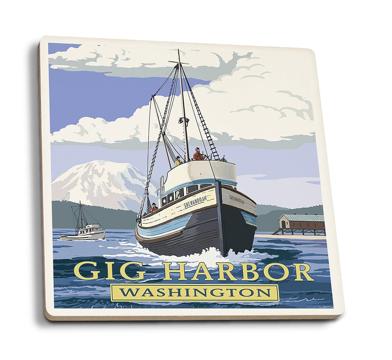 Gig港、ワシントン – Shenandoah 4 Coaster Set LANT-54821-CT B01MXIUIPU  4 Coaster Set