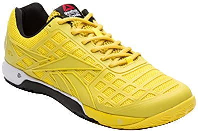 Mens Reebok CrossFit Nano 3.0 Trainers Yellow Black White Guys Gents (UK 6 b6f4dfb60